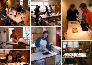 Monoprint Workshop at Wet Hill Studios